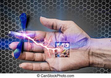 biorobot in charging process of the manipulator - Robot -...