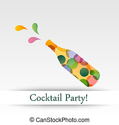 Colorful cocktail party invitation card