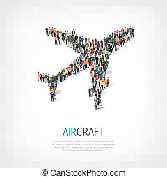 group people  aircraft  transportation