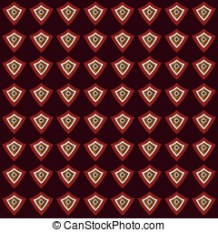 Decorative vector red background