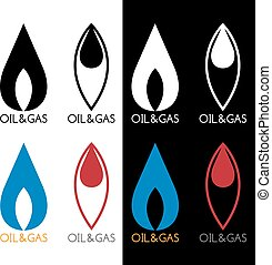 oil and gas industry vector icons