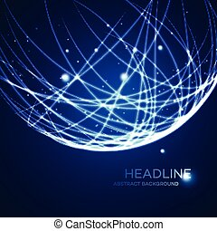 Neon grid globe background. Vector illustration