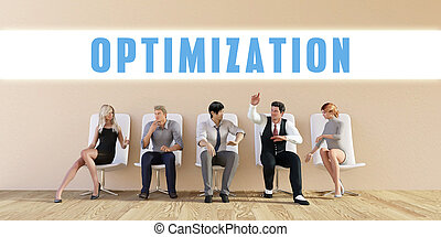 Business Optimization Being Discussed in a Group Meeting