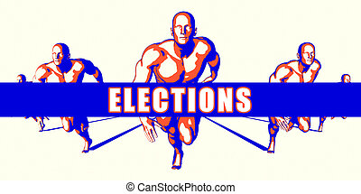 Elections as a Competition Concept Illustration Art