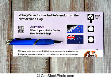 New Zealand referendum voting paper. - AUCKLAND - DEC 06...