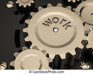 abstract machine metal gears classic style,with word work
