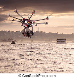Octocopter, copter, drone - Copter shoots photos and videos...