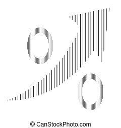 Profit - Isolated percentual symbol with a texture and an...