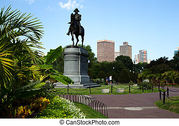 George Washington Statue in Boston Public Garden, Boston