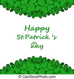 Banner with St Patricks Day clover decorated