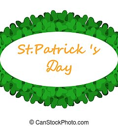 banner with St. Patrick's Day clover decorated - Banner with...