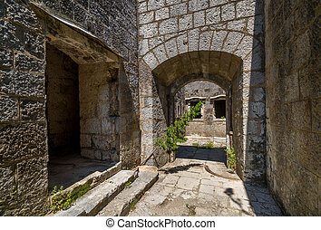 Fort Kabala main gate and entrance to old abandoned...