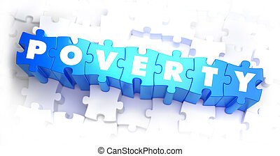 Poverty - Text on Blue Puzzles - Poverty - Text on Blue...