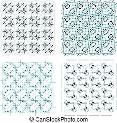 Vector set of colorful seamless pattern