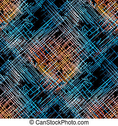 Seamless abstract pattern with color lines on dark...