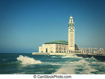 Mosque Hassan II in Casablanca - The Hassan II Mosque in...
