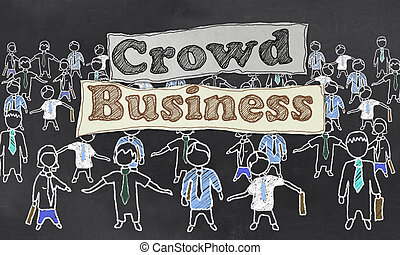 Crowd Business Illustration