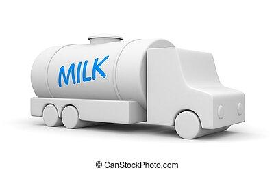 牛奶, 交付, 卡車,