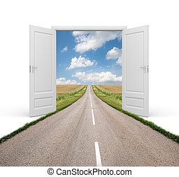 Open the door to a new reality - conceptual image