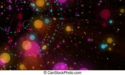 Wonderful video animation with bubbles and lights in motion,...