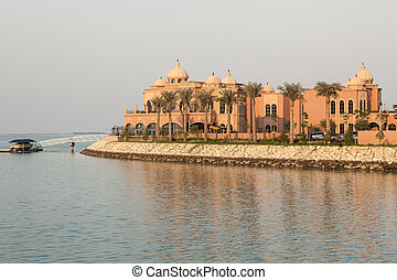 Luxury villas at The Pearl in Doha, Qatar