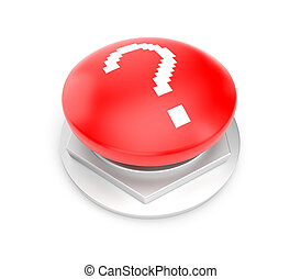 Question button - Sign and symbol Isolated on white
