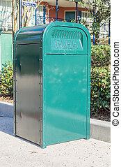 Green Rubbish Bin - Green outdoor rubissh Bin