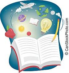 Education Book Open Wonder Book