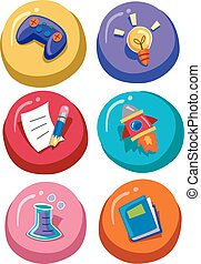 Educational Website Buttons Group