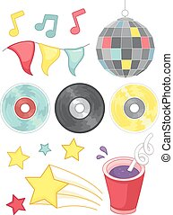 Group Party Elements Disco