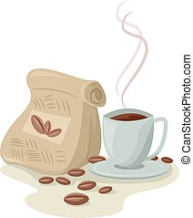Brewed Coffee Beans Cup Aroma