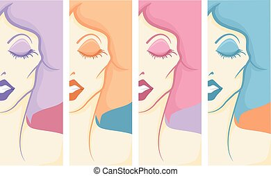 Girl Drag Queen Pop Art Panels