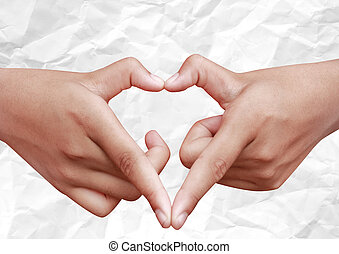 Hands Love Sign - hands fingers love sign heart for on...