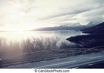 Landscape Abisko Sweden - pale processed of Abisko Sweden...