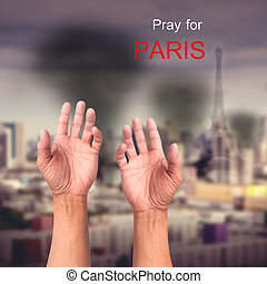 Pray Paris Explosion - Pray for PARIS praying hands over...
