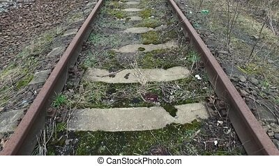 Long shot on old railway lines