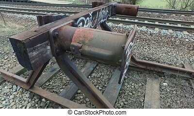 End of the railway track