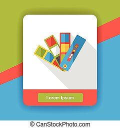 color card flat icon