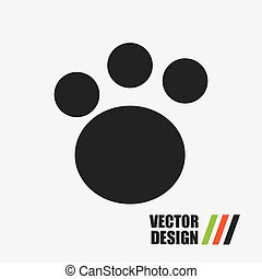 foot print design, vector illustration eps10 graphic