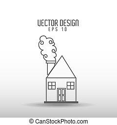 house drawn design - house drawn design, vector illustration...