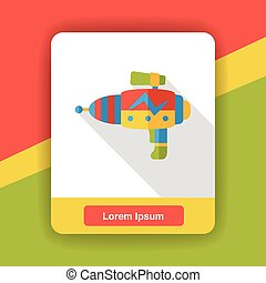 water gun flat icon