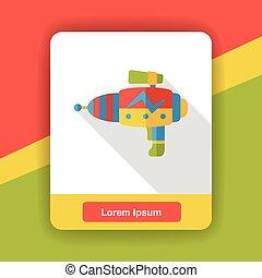 water gun flat icon