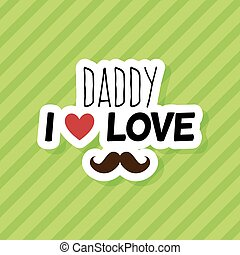 Happy Father Day - abstract happy father day label on a...