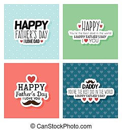 Happy Father Day - abstract happy father day labels on a...