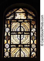 Church stained-glass window - Church stained glass window...