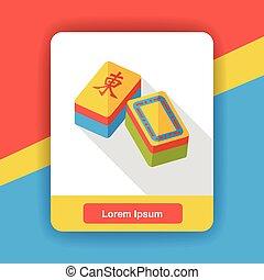 Chinese Mahjong flat icon