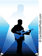 guitarist under the bright lights internet background