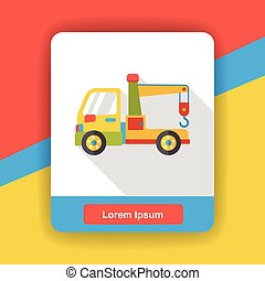 Tow truck flat icon