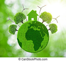 Green eco planet.