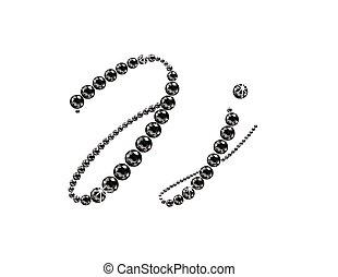 Jj Onyx Script Jeweled Font - Jj in stunning Onyx Script...